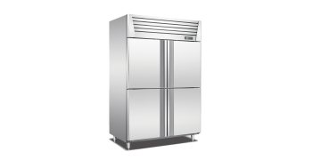 Stainless Steel Upright 4 Doors Freezer
